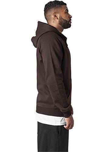 Zip Urban Streetwear Capucha Para Hoody Classics Sudadera Marrón Hombre PqO5F