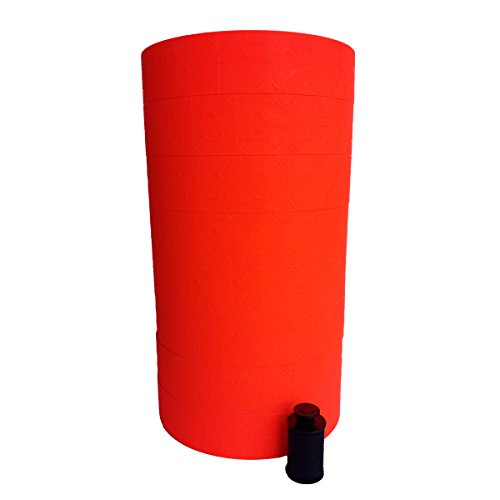 1136 Monarch RED labels, Free Shipping one sleeve, 8 rolls, 14,000 two line labels