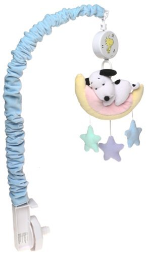 Baby Snoopy Nursery Mobile - Lambs & Ivy - My Little Snoopy (Mobile Musical Snoopy)