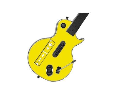 (Guitar Hero III 3 (GH3) for Nintendo Wii Skin - NEW - LEMON YELLOW system skins faceplate decal mod )