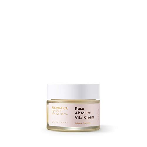 Aromatica Rose Absolute Vital Cream 1.7oz, Anti-wrinkle & Whitening by Aromatica
