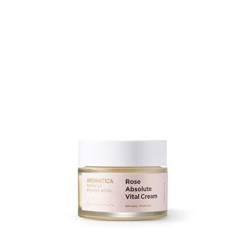 Intensive Vitalizing Eye - AROMATICA Rose Absolute Vital Cream 1.76 oz / 50g Anti-aging, Brightening, For Dry Skin, Vegan, EWG VERIFIED