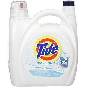 Tide (Pack of 4) 150oz Free and Gentle High Efficiency (Packaging May Vary) by Tide