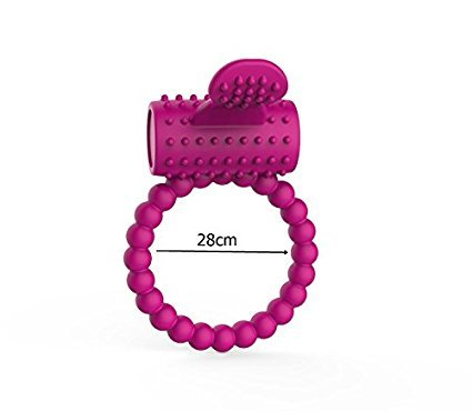Silicone Cock Ring SEXYBELLA with Clit Stimulator Vibrating Pleasure Rings – Pleasure Enchancing Sex Ring for Man Pink