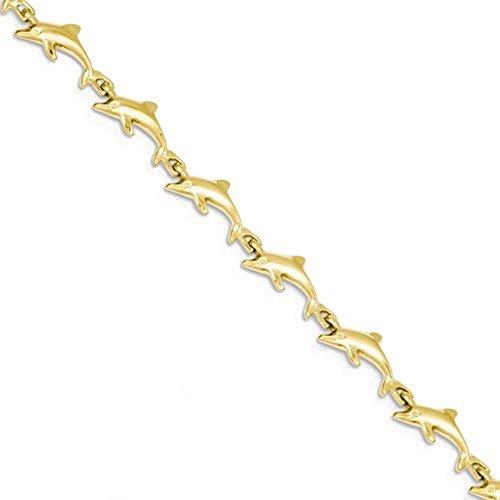 CKL International 14k Yellow Gold Dolphin Bracelet 7 inch ()
