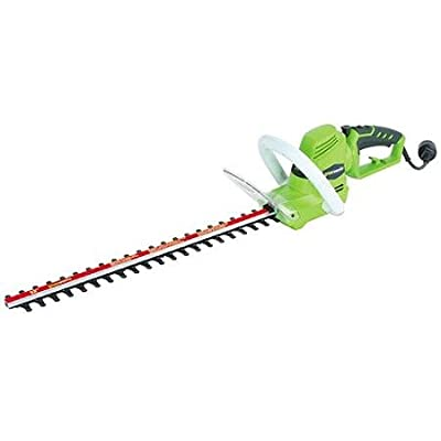 "Greenworks 2.0 amp 22"" Electric Rotating Handle Hedge Trimmer, Green"