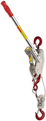 Lug-All 3000-10 Small Frame Cable Ratchet Winch Pulley Hoist, 1-1/2 ton Capacity, 5' / 10' Lifting Height
