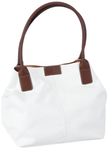 TOM TAILOR Acc MIRIPU 10990 Damen Shopper 44x28x18 cm (B x H x T) Weiß (Weiß 12) B6ARE