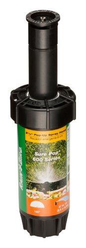 [Rain Bird SP25H Sure Pop 600 Series Pop-Up Sprinkler, 180° Half Circle Pattern, 8' - 15' Spray Distance, 2-1/2