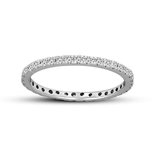 100% Pure Diamond Ring Eternity Diamond Ring 1/3 ct IGI Certified Lab Grown Diamond Engagement Rings For Women Lab Created Diamond Rings SI-GH 10K Real Diamond Band Rings Diamond Created Eternity Band Ring
