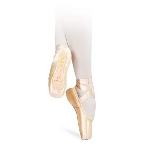 (SANSHA Recital II Pointe Shoes, 202-2SL (4) Pink)