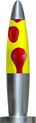 Creative Motion Mini Lamp with Black Base, 12-Inch, Red Wax & Clear Liquid ()