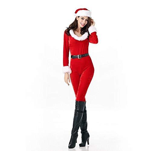 Xddq Fiesta Bata Mujeres Traje Mujer,disfraces Navidad Cosplay Las Etapa rojo De Navidad vr4BIxrp