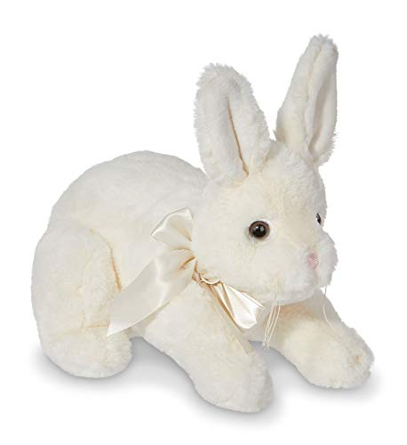 Bearington Hopi White Bunny Rabbit Plush Stuffed Animal, 10 inches