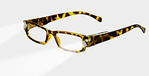 EVIDECO LED Reading Glasses with Light, LG Ava Optic By Finess Power +1.5