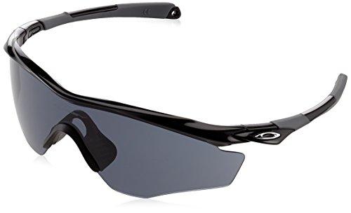 Oakley Men's OO9343 M2 Frame XL Shield Sunglasses, Polished Black/Grey, 45 ()