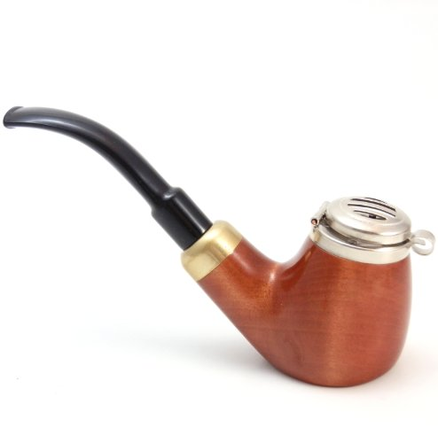 Mr. Brog Full Bent Smoking Tobacco Pipe - Model No: 21 Old Army Pecan - Pear Wood Roots - Hand Made (Water Related Halloween Costumes)