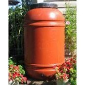 Upcycle 55 Gallon Terra Cotta Rain Barrel