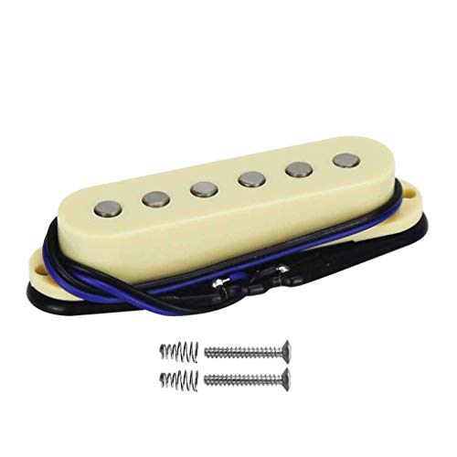 (FLEOR Alnico 5 Strat Style Electric Guitar Single Coil Pickup Middle Pickup,)
