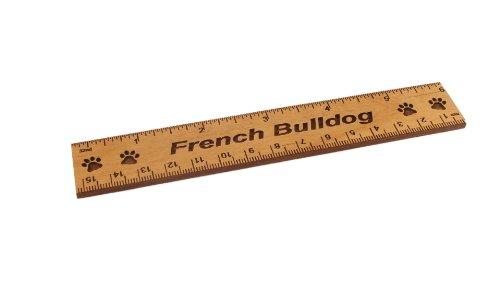 UPC 647358344402, French Bulldog 6 Inch Alder Wood Ruler