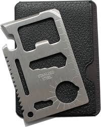 ProTool 11-Tools-in-1 Stainless Steel Credit Card-Sized Survival Tool Silver