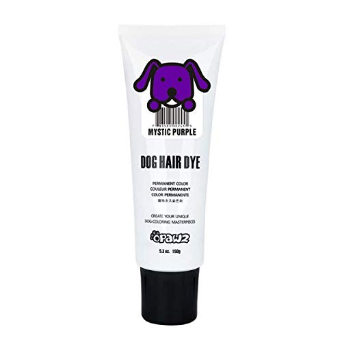 Owpawz DOG HAIR DYE GEL (PURPLE) Bright, Fun Shade, Semi-permanent, completely non-toxic safe