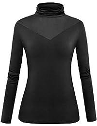 Women Modal Lightweight Long Sleeve Turtleneck Top