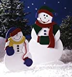 42 Inch Tall Mrs Snow and 27 Inch Tall Little Snowflake - A Woodworking Full Size Pattern and Instructions Pkg to Build Your Own Yard Art Project