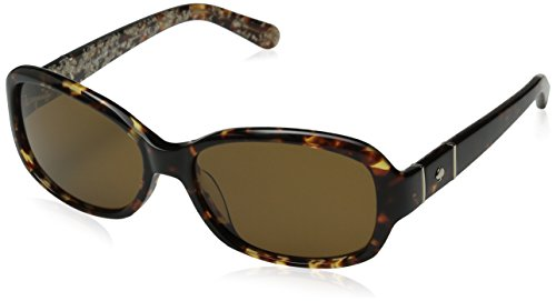 Kate Spade Women's Cheyenne/P/S Polarized Rectangular Sunglasses, Havana & Brown Polarized, 55 - Spade Sunglasses Kate Amazon