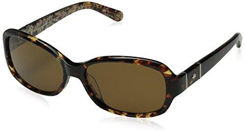 Kate Spade Women's Cheyenne/P/S Polarized Rectangular Sunglasses, Havana & Brown Polarized, 55 - Kate Spade Sunglasses Amazon