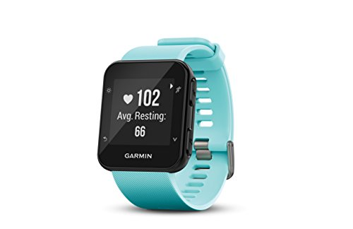 Garmin Forerunner 35, Easy-to-Use GPS Running Watch, Frost Blue (Best Run Walk Interval App)