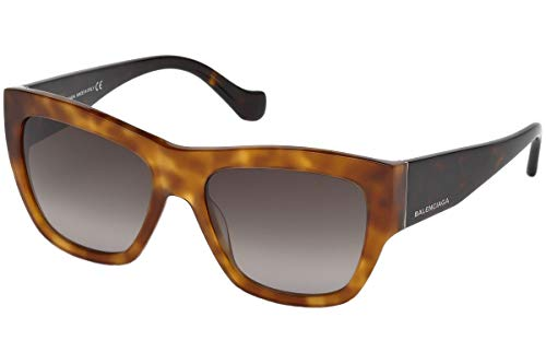 - Balenciaga Women's BA0102 Light Havana/Dark Ruthenium/Gradient Smoke One Size