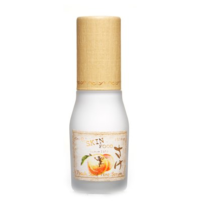 SKIN FOOD Peach Sake Pore Serum 45ml (1.52 oz) - Tighten Pores and Sebum Control Skin Smoothing Facial Serum for Oily Skin, Rich in Vitamin C and A