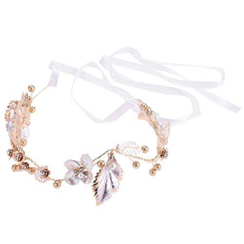 Elegent Women Wedding Pearl Leaf Vine Hairband Bride Bridal Party Headband
