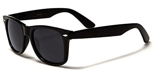 Retro Style Sunglasses Classic 80's Vintage Style Design (Black Matte)
