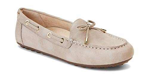 Vionic Women's Honor Virginia Loafer - Ladies Moccasin with Concealed Orthotic Arch Support Nude Leather 8.5 M US ()