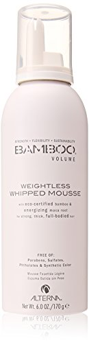 Alterna Bamboo Volume Weightless Whipped Mousse for Unisex, 6 Ounce (Alterna Mousse)