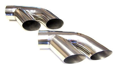 The Parts Place Trans Am 3 OEM Exhaust Tips Polished Stainless Steel