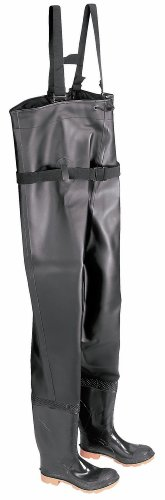 - ONGUARD 86067 PVC/Polyester Men's Steel Toe Chest Wader Boots with Cleated Outsole, 56-19/32