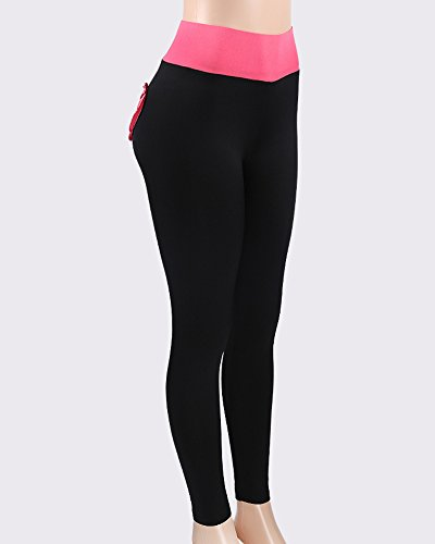 Rose Leggings Slim Donna Pantaloni Cuore Da A Fit Motivo Cuciture Con Sportivi PqTqSFHwxE