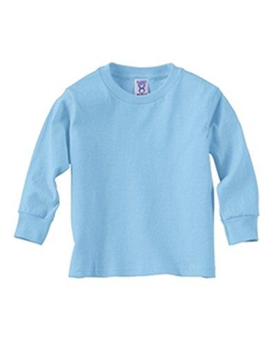 Rabbit Skins Toddler Short Sleeve Cotton T-Shirt, 4T, Light Blue
