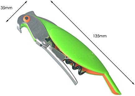 whbage Sacacorchos 3pc Parrot Stainless Steel Wine Bottle Opener Random Color
