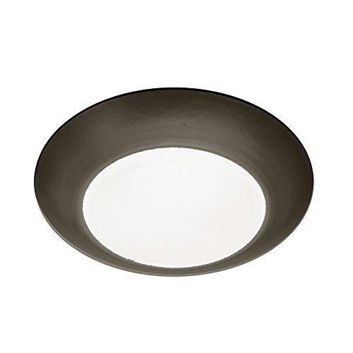 (WAC Lighting FM-304-930-BZ Contemporary Disc 4 Inch Energy Star LED Flush Mount 3000K Soft White In)