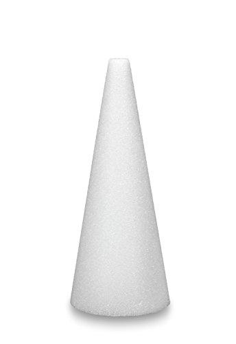 FloraCraft Styrofoam 2 Piece Cone 2.9 Inch x 5.8 Inch White - Floral Cone