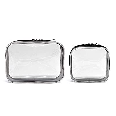 Clear Cosmetics Makeup Bags, Waterproof Plastic Travel Toiletry Organizer Cases