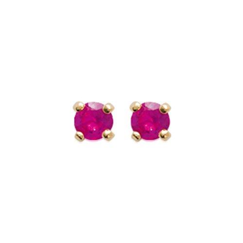 ISADY - Marina Gold 3 - Boucles d'oreille - Plaqué or jaune 18K - Clous d'oreille - Oxyde de zirconium