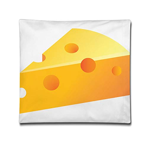 Phyllis Walker Pillow Shams Yellow Cheeses Square Throw