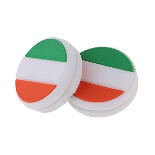CUTICATE 2X National Flag Shock Absorbers Tennis Dampeners For Rackets String Dampers
