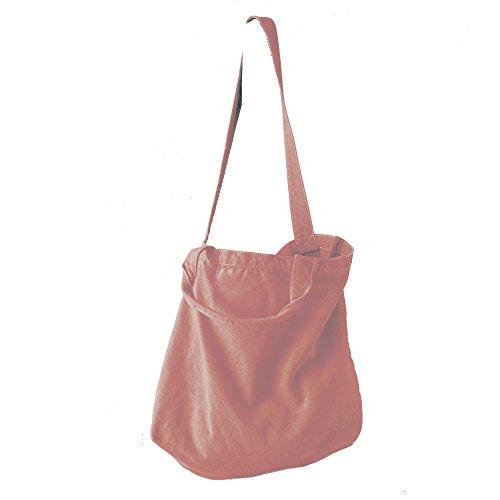 TextildruckPlauen - Bolso de tela de algodón para mujer 46 x 34 x 14cm Primrose Pink