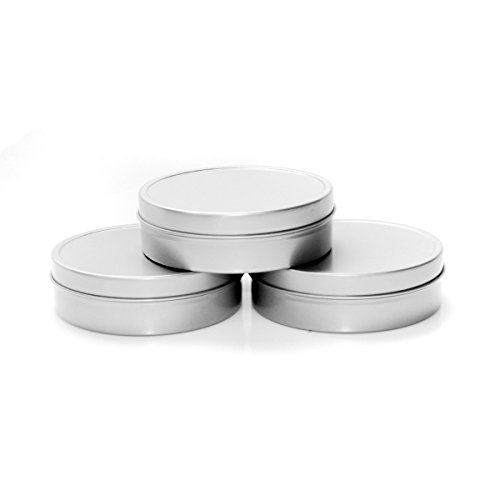 - Mimi Pack 8 oz Shallow Solid Top Slip Lid Tins For Salves, Favors, Spices, Balms, Candles, Gifts 24 Pack (Silver)